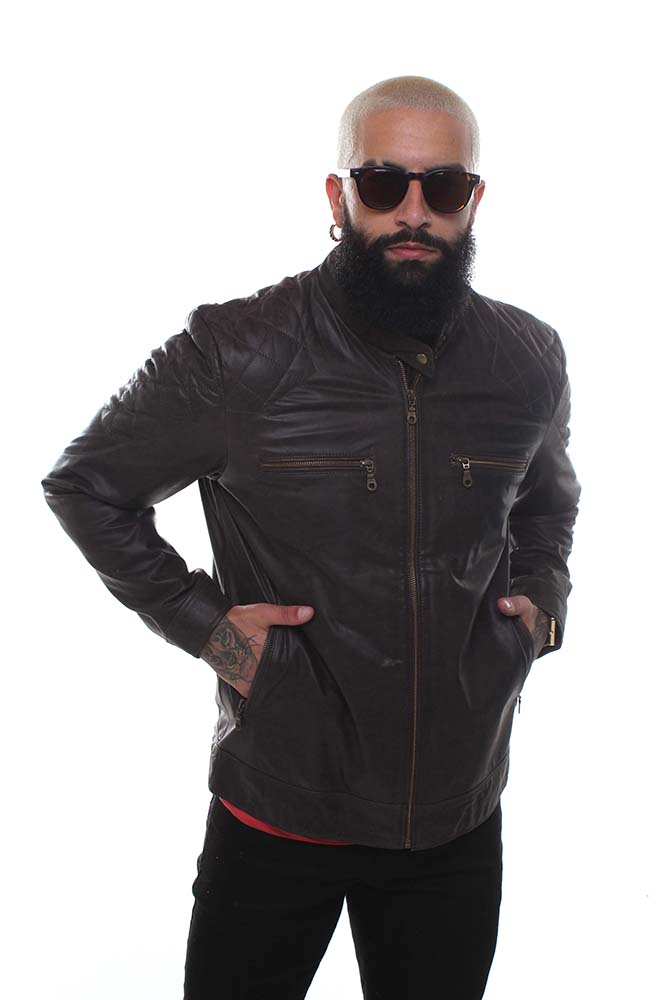 Jaqueta de Couro Harry Preto