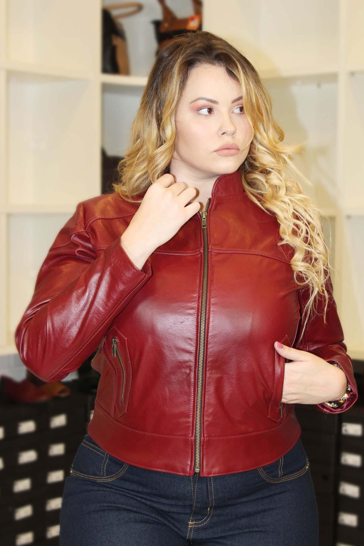 Jaqueta de Couro Plus Size Vilma