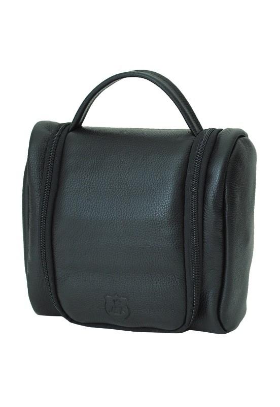 Necessaire Bag Porta Objetos Em Couro Preto
