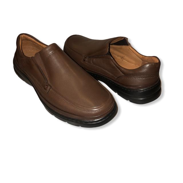 Sapato Confort Gel em Couro TDS3802