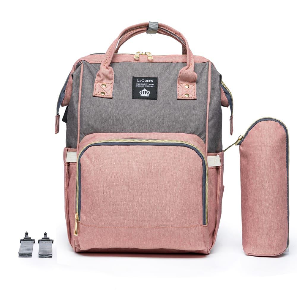 Bolsa Mochila Maternidade Original com Encaixe USB 17L - LeQueen