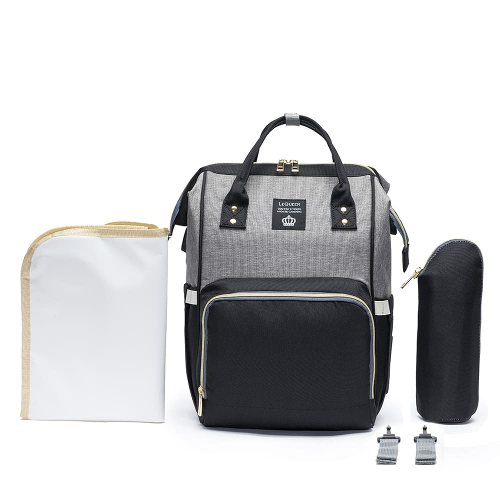 Bolsa Mochila Maternidade Original com Encaixe USB LeQueen