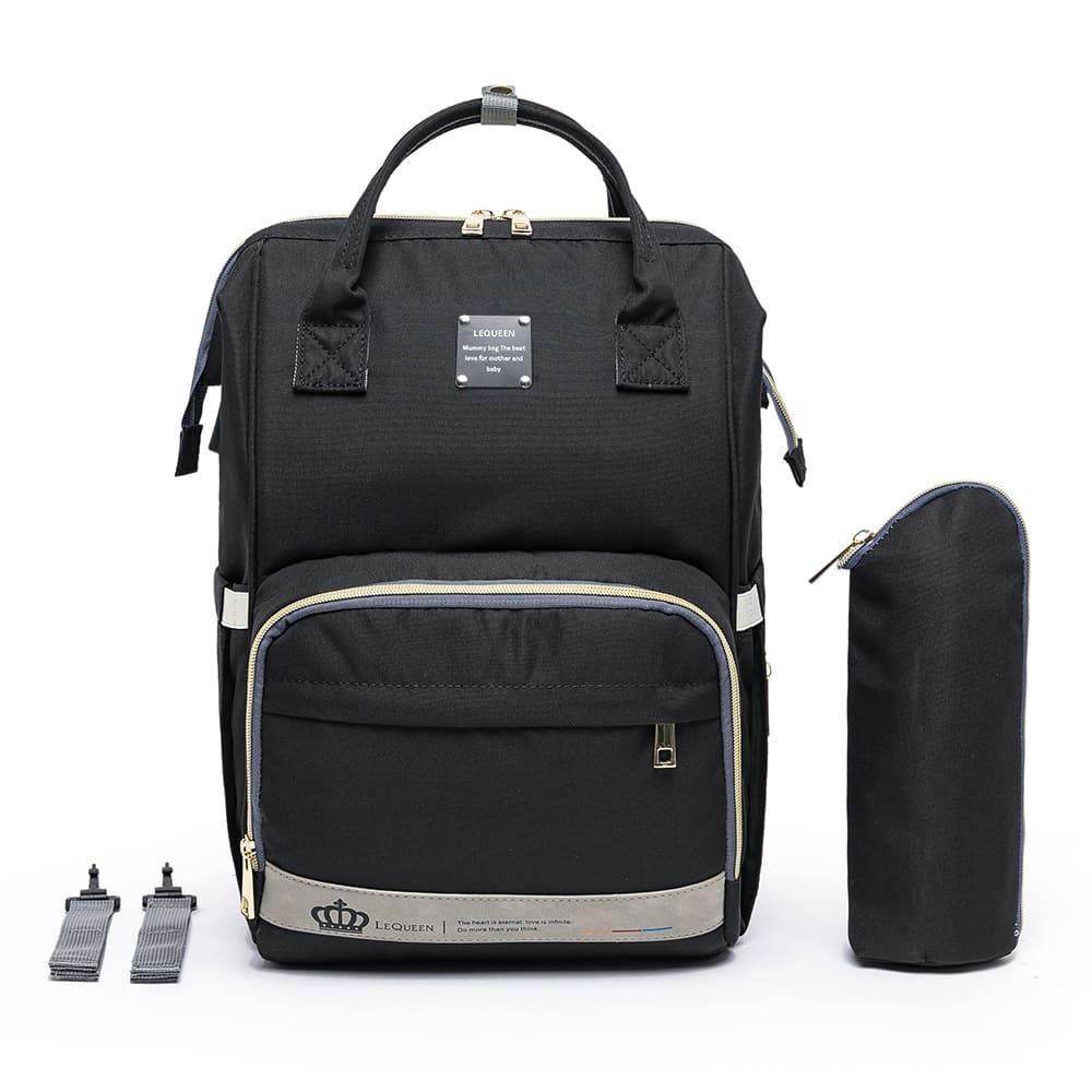 Bolsa Mochila Maternidade Standar com Encaixe USB 17L - LeQueen