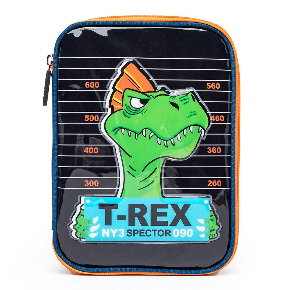 Estojo Spector Dinossauro Infantil Escolar Multi Uso Reforçado
