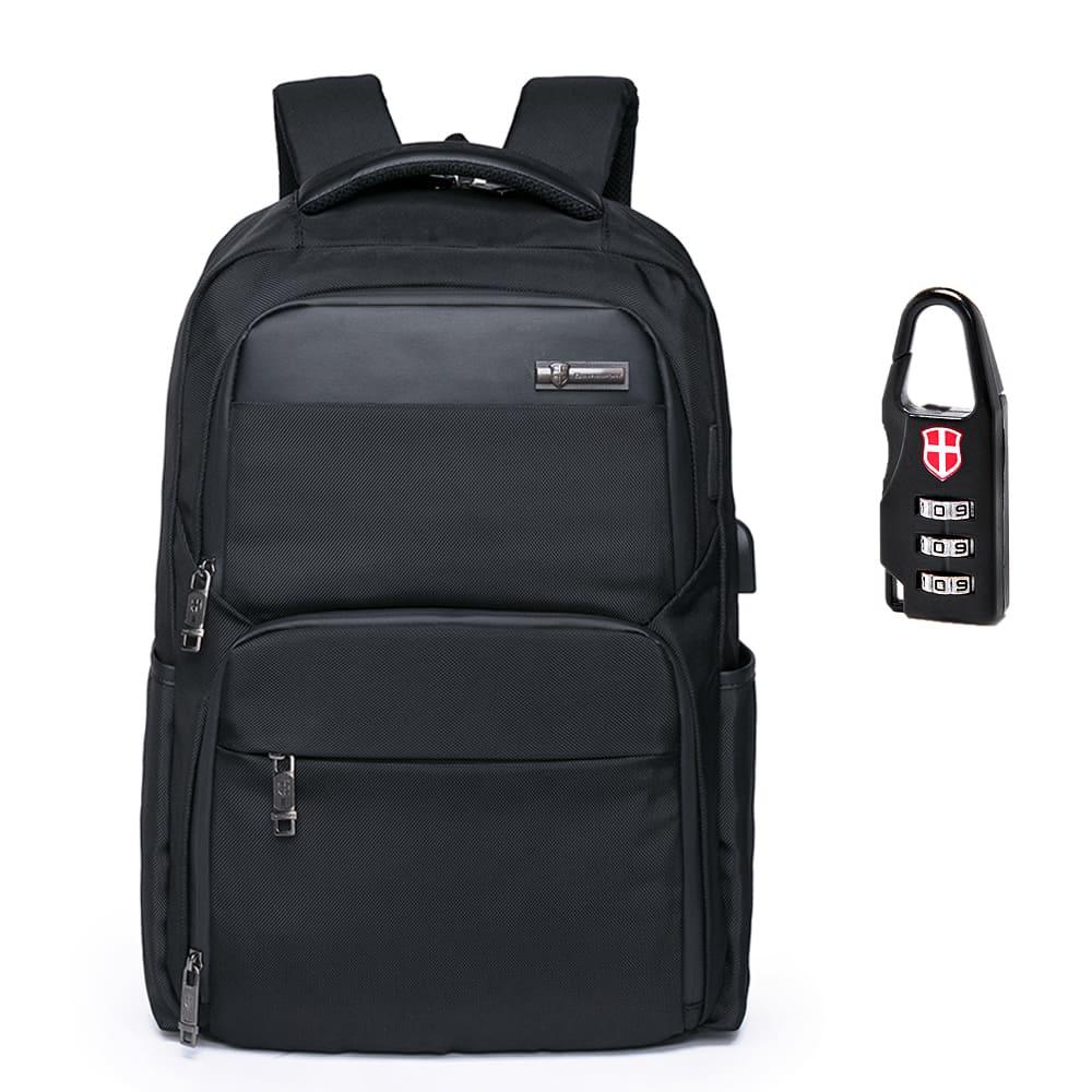 Mochila Executiva com Cadeado e Encaixe USB 20,4L - Swissport