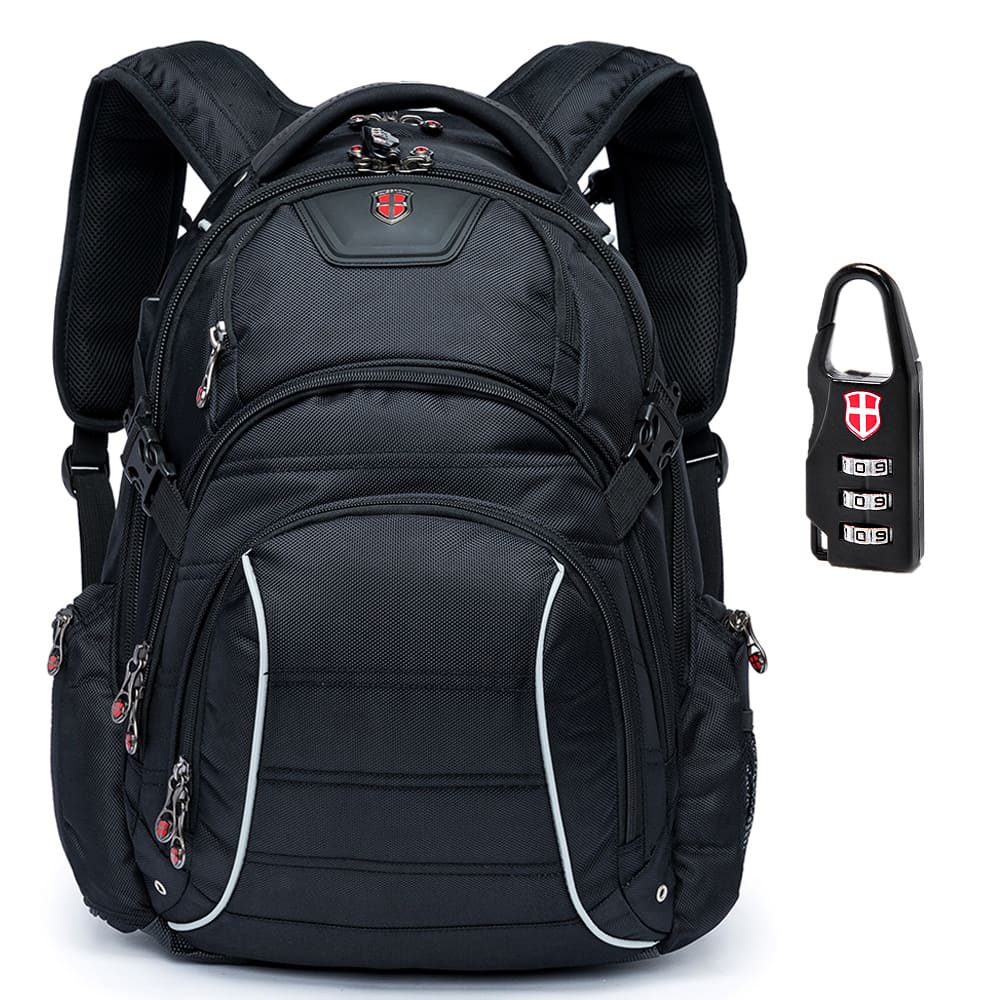 Mochila Executiva Hightech com Cadeado e Encaixe USB 36L - Swissport