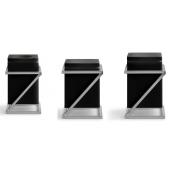 Conjunto Zeta - Porta Escova, Porta Algodão e Porta Cotonete