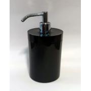 Porta Sabão Liquido Cilindro Rest ITC preto 20x11x11