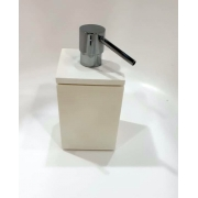Porta Sabonete Liquido Quadra Res Branco 20x12x12