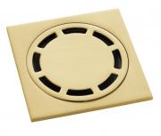Ralo Inox  Quadrado 10cm DOKA com válvula de fechamento  BRUSHED GOLD