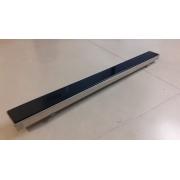 Ralo Linear Inox Tampa Preta 3,5x7x80cm c/ Saída Central