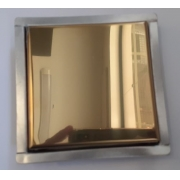 Ralo Mini Vistta Aço Ouro Inox Polido 2x10x10cm