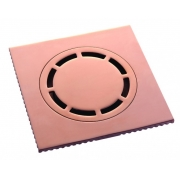 Ralo Quadrado 15cm DOKA com válvula de fechamento ROSE GOLD