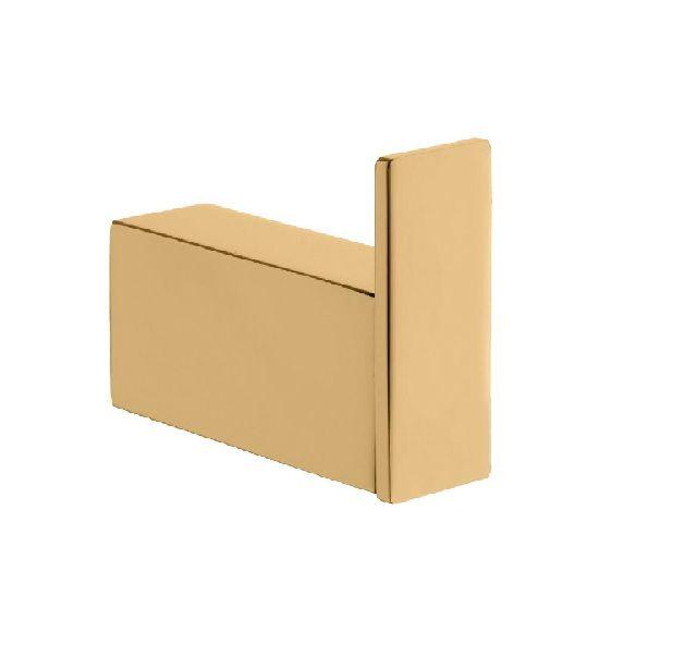 Cabideiro Quadratta Acabamento Dourado.