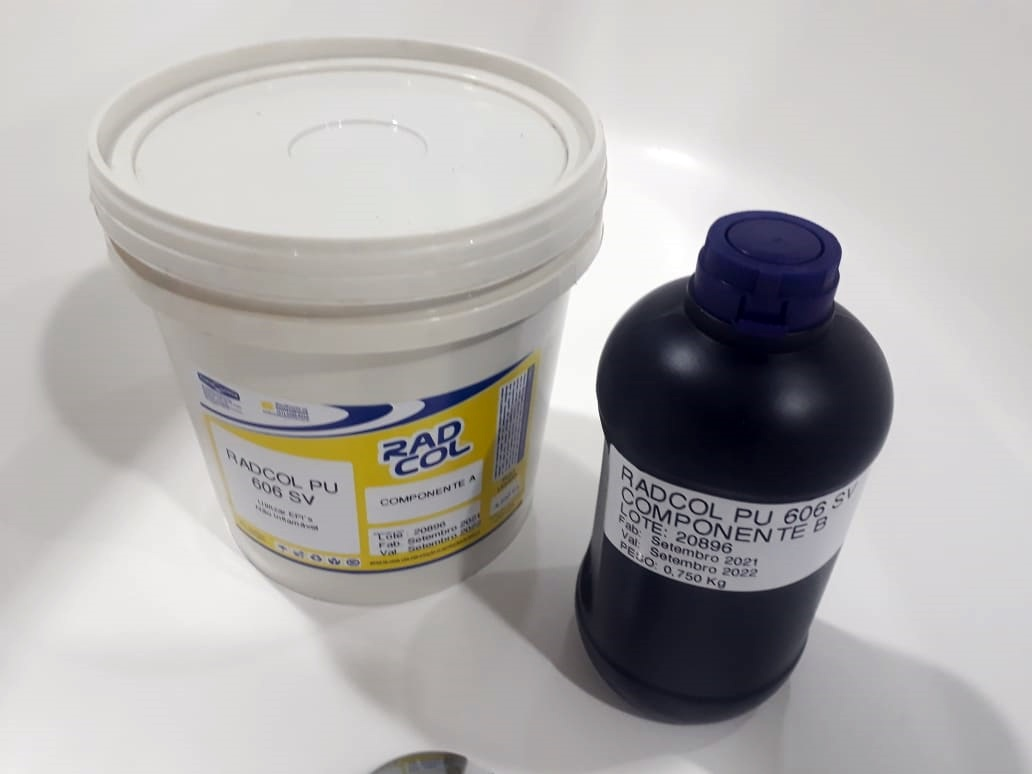 Cola Radial PU 606 SV  Comp. A/B 5kg - RADIAL QUIMICA