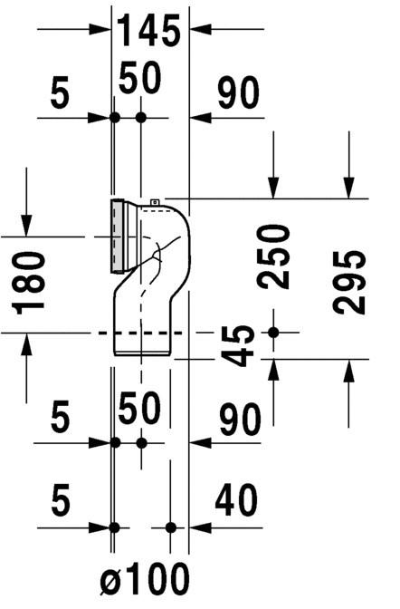 Curva de Conexão para Bacia Duravit