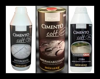 Kit Colt Manutenção Címenticio - Limpeza Pesada + Cera Protetora + Impermeabilizante - Bellinzoni