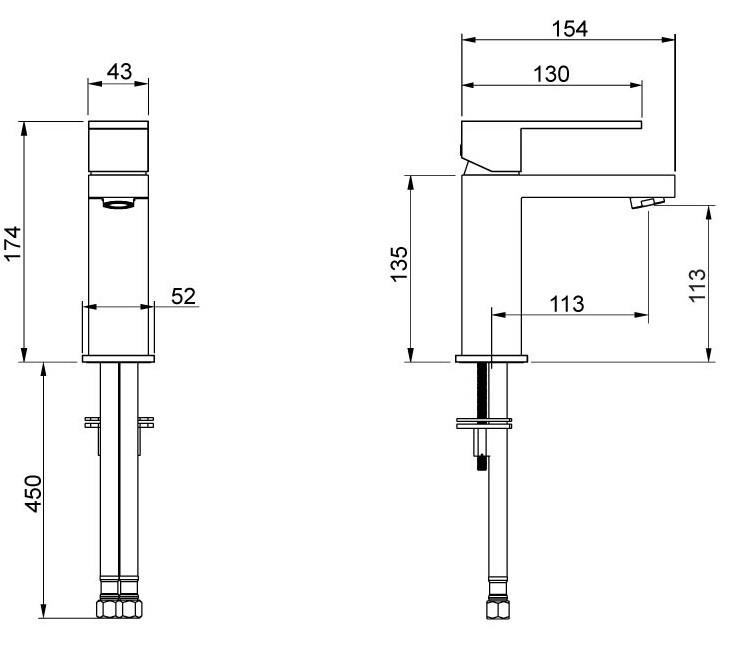 Misturador Monocomando De Mesa Para Lavatório Bolero Cromado