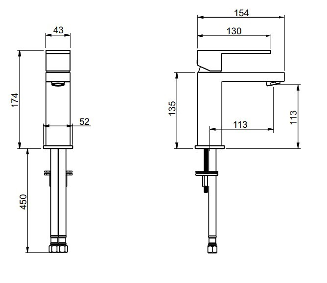 Misturador Monocomando De Mesa Para Lavatório Bolero Matte Black