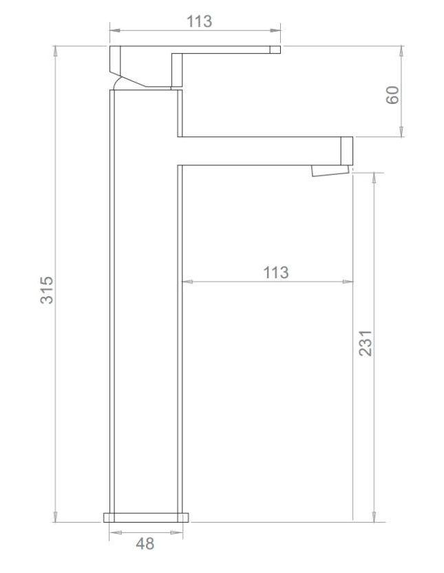 Misturador Monocomando Para Lavatório Bica Alta Acabamento Cromado.