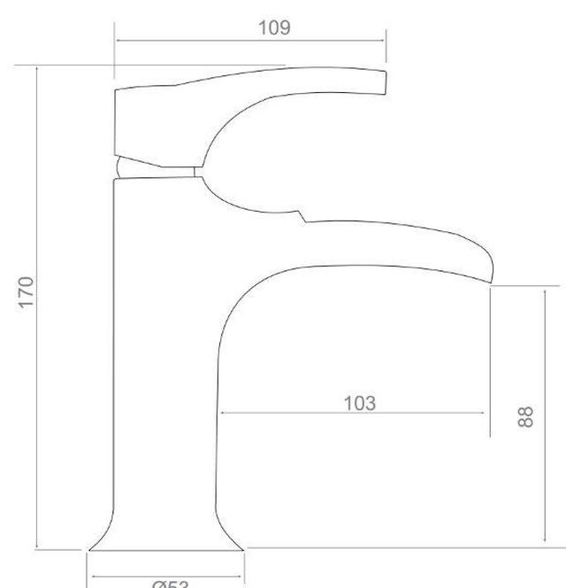 Misturador Monocomando Para Lavatório Tipo Cascata Acabamento Cromado.
