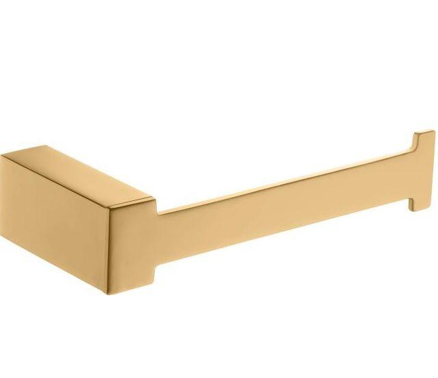 Papeleira Quadratta Acabamento Dourado.