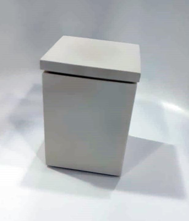 Porta Algodão/ Cotonete Quadro Res Branco 20x12x12