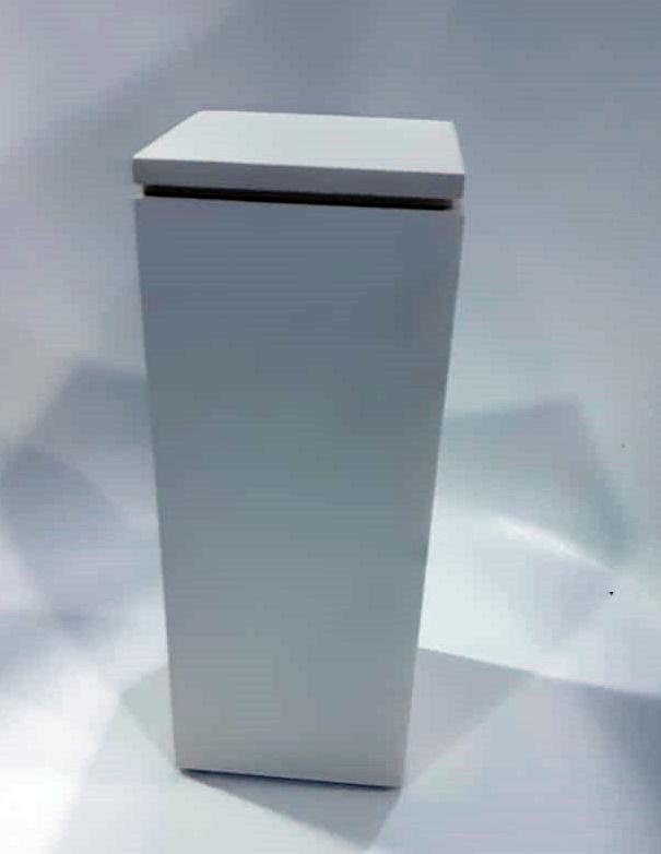 Porta Escova Quadro Fechado Resina Branco 20x12x12