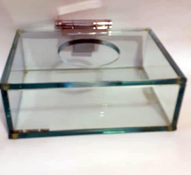 Porta Lenço M Incolor Elizabeth Eduardo Prado 16x27x27