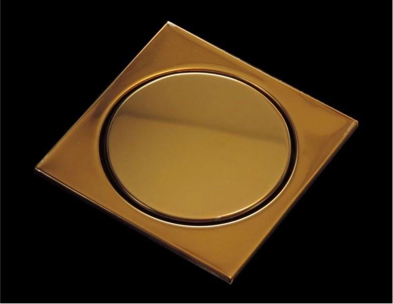 Ralo Elegance Inox Eletrocolorido Bronze 12,5x12,5cm
