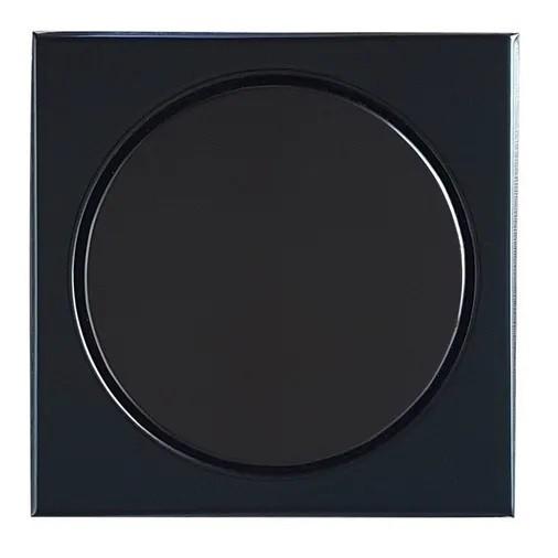 Ralo Elegance Inox Eletrocolorido Preto 12,5x12,5cm