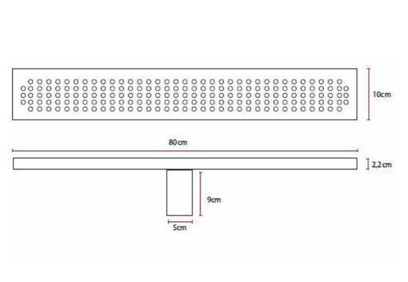 Ralo Linear 80cm Doka