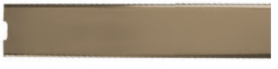 Ralo Linear Inox Tampa Ouro Polido 3,5x7x80cm c/ 01 Saída Central