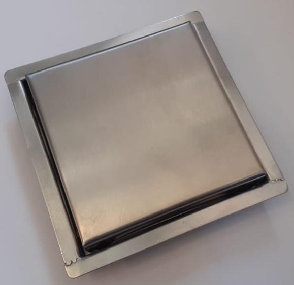 Ralo Mini Vistta Escovado Aço Inox 2x10x10cm