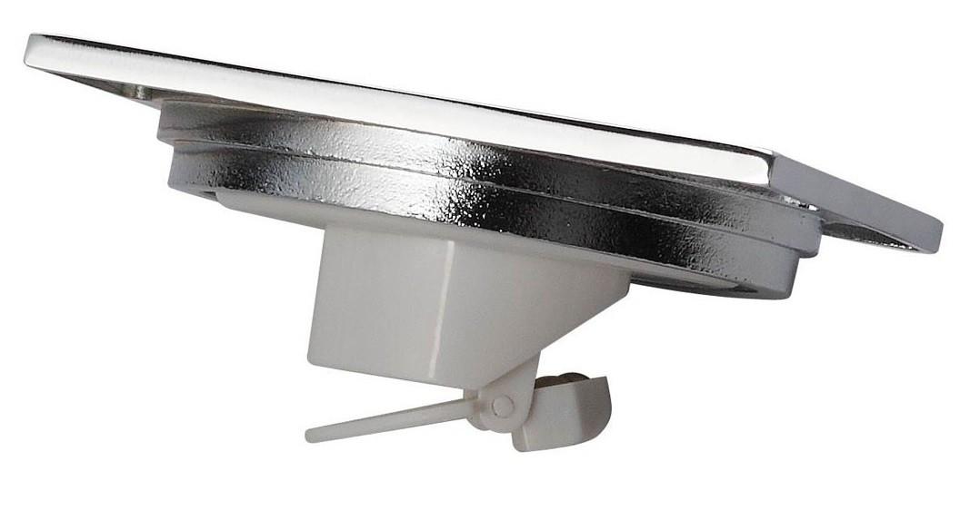 Ralo Quadrado 15cm DOKA com válvula de fechamento