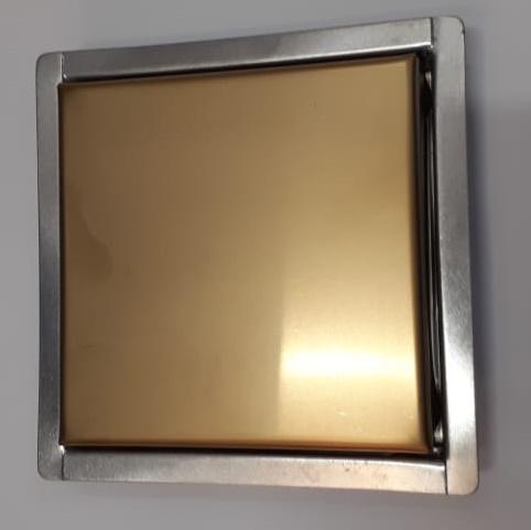 Ralo Quattro Vistta Inox Ouro Matte 2x10x10cm