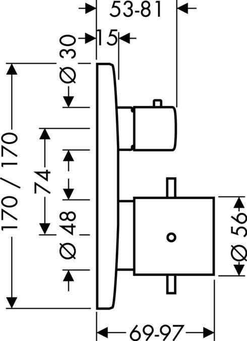Termostato com Válvula de Fechamento STARCK X