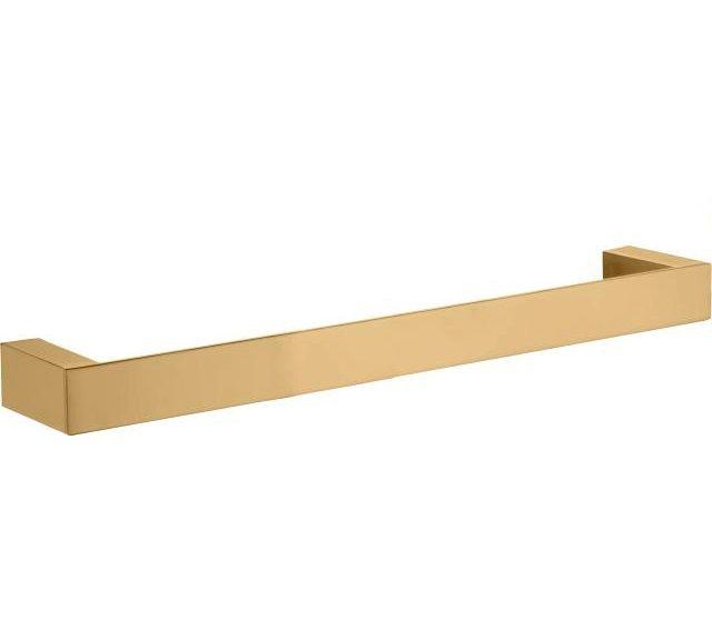 Toalheiro Dourado Quadratta 60 cm KROMMA
