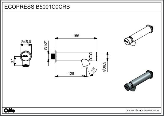Torneira Automática de Parede Waterpress Cromado - INCEPA