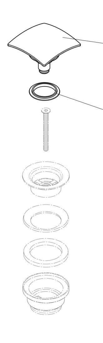 Válvula Clic And Close Quadrada Acabamento Cromado.