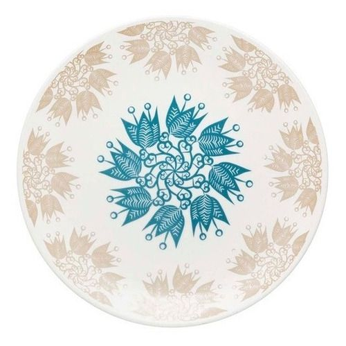 Prato Raso De Porcelana Etnia Oxford