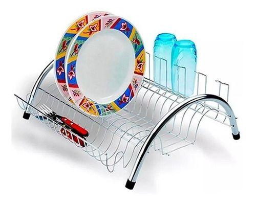 Escorredor De Louça Arco Cromado Pequeno Madefer Inox