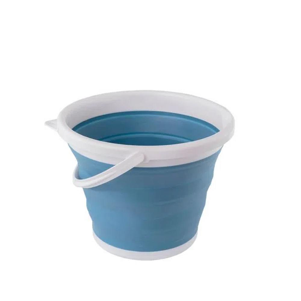 Balde Retratil de 10L Azul - Oikos