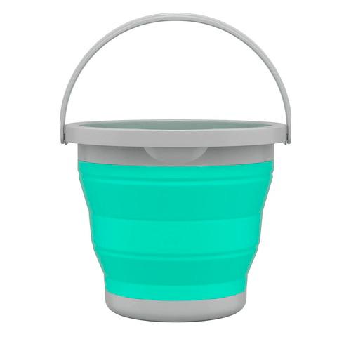 Balde Retrátil Verde Água 5L