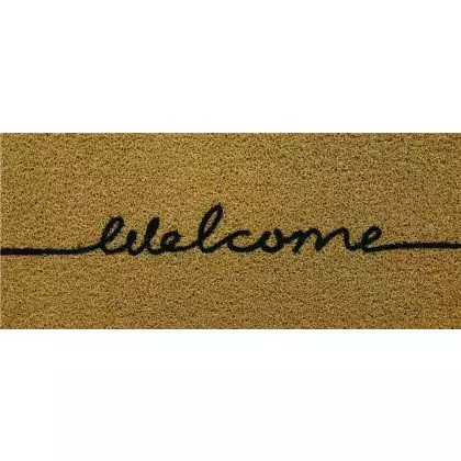 Capacho Decorativo de Vinil Long Welcome 30x70cm