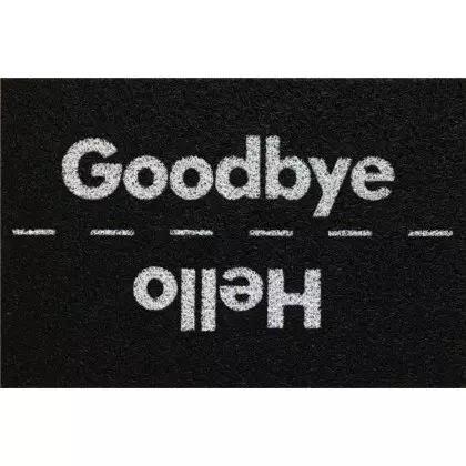 Capacho Decorativo de Vinil Super Print Hello Bye 40x60cm