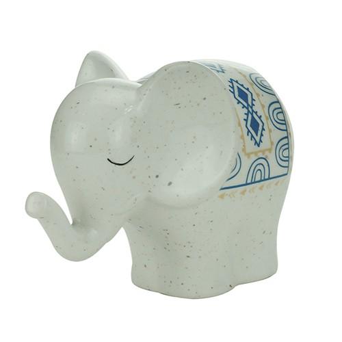 Elefante Decorativo de Porcelana 13,4x8,3x10cm