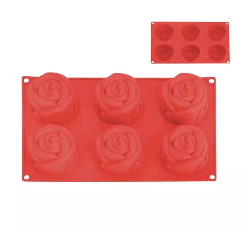 Forma de Silicone Rosas 6un