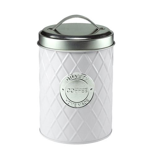 Lata de Metal Coffee Branca