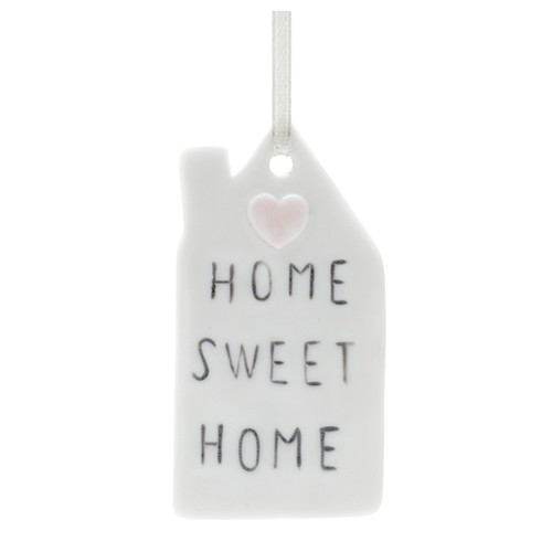 PORCELANA HOME SWEET HOME BRANCO 9,6x6,3x0,4 cm